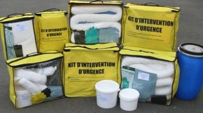Kit antipollution et Kit absorbant pour hydrocarbures