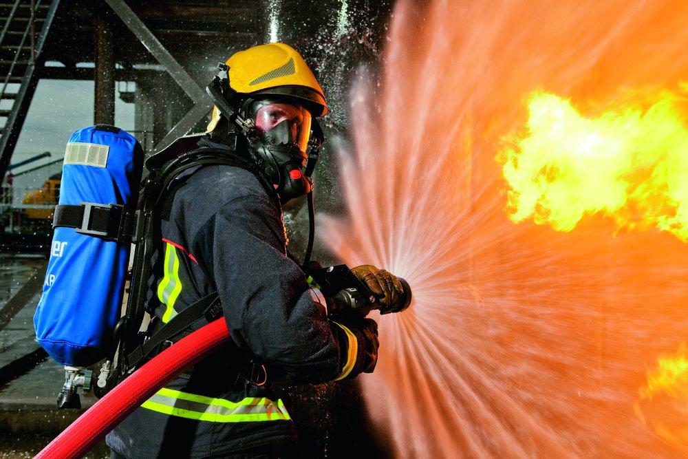 masque respiratoire pompier