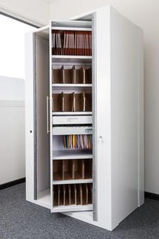biclass un nouveau concept de classement pour espaces de bureau armoire de classement pivotante. Black Bedroom Furniture Sets. Home Design Ideas