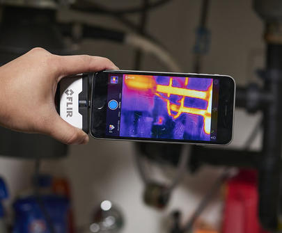 nouvelles cam ras thermiques flir one pour smartphones et tablettes cam ra infrarouge pour. Black Bedroom Furniture Sets. Home Design Ideas