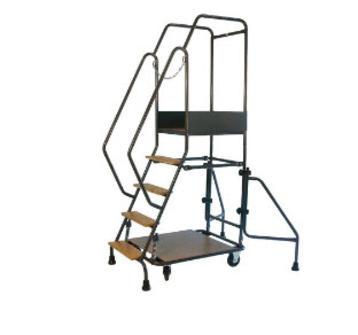 escabeau mobile s curis escabeau anti chute avec 5 15 marches bois. Black Bedroom Furniture Sets. Home Design Ideas