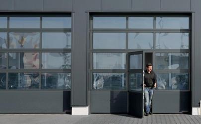 Porte industrielle vitr e en acier et aluminium portes sectionnelles industrielles - Porte sectionnelle aluminium ...