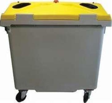 conteneur roulant 4 roues pour tri s lectif d chets conteneur poubelle pour d chets. Black Bedroom Furniture Sets. Home Design Ideas