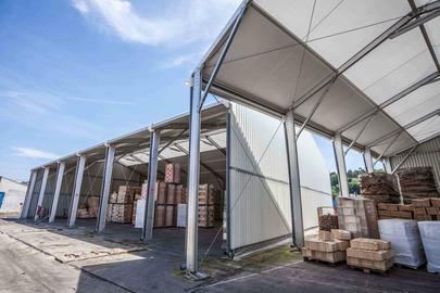 hangar de stockage d montable location vente b timent hangar m tallique provisoire. Black Bedroom Furniture Sets. Home Design Ideas