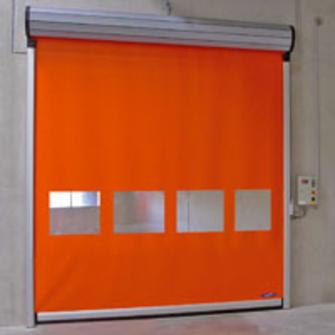 Porte souple enroulement rapide porte souple for Porte a enroulement