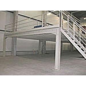 Rambardes et escaliers m tallique pour plateformes et mezzanines plateforme - Barriere pour mezzanine ...